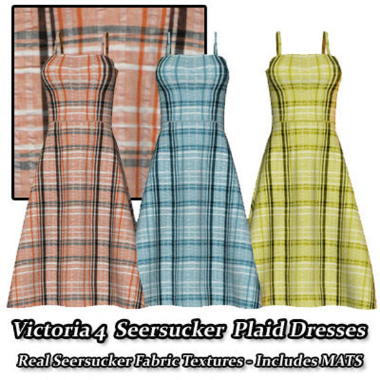 Picture of Seersucker Plaid Dresses for Victoria 4