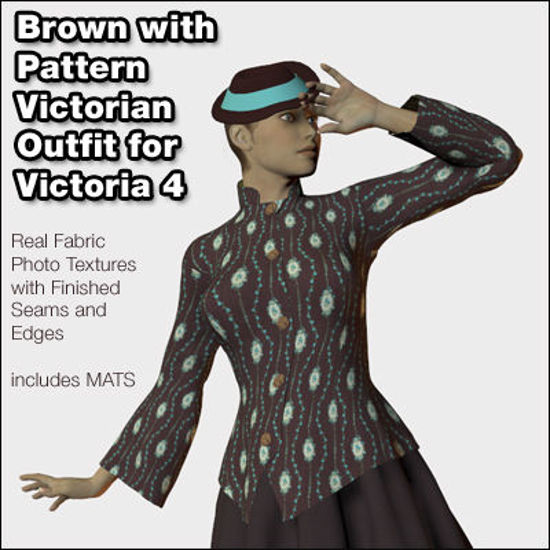 Picture of Brown Victorian Outfit for Victoria 4