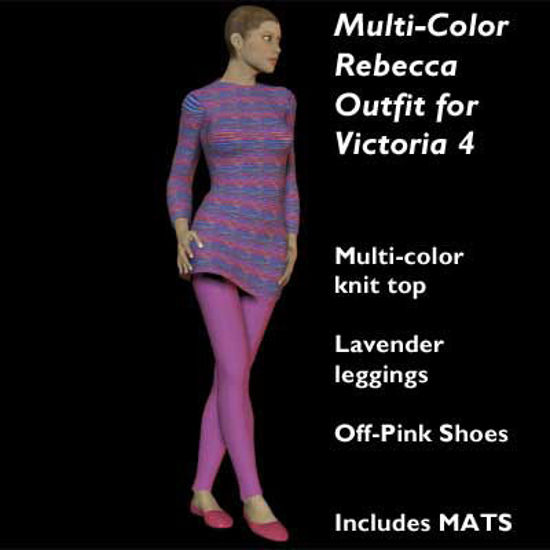 Picture of Multi-Color Knit Rebecca Outfit for Victoria 4
