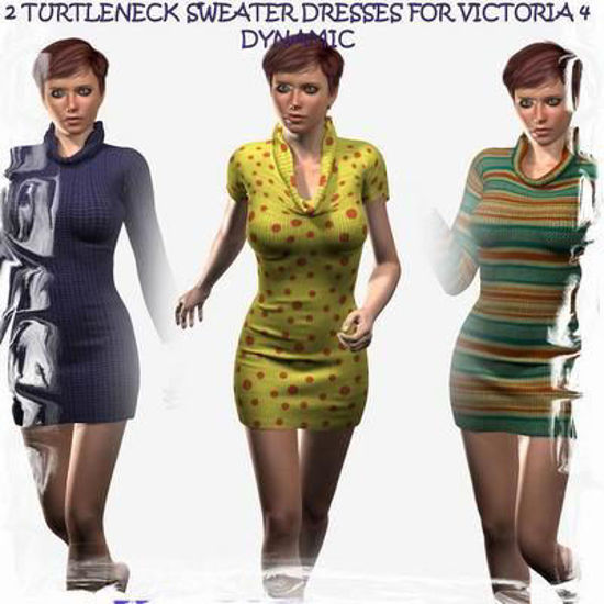 Picture of Turtleneck sweater dresses for Victoria 4 (dynamic)