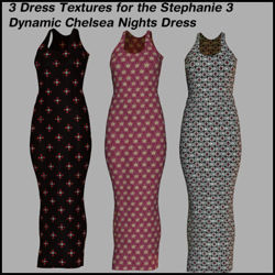 3 Dress Textures for the Dynamic Stephanie 4 Chelsea Nights Dress