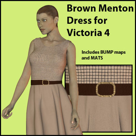 Picture of Brown Menton Dress for Victoria 4