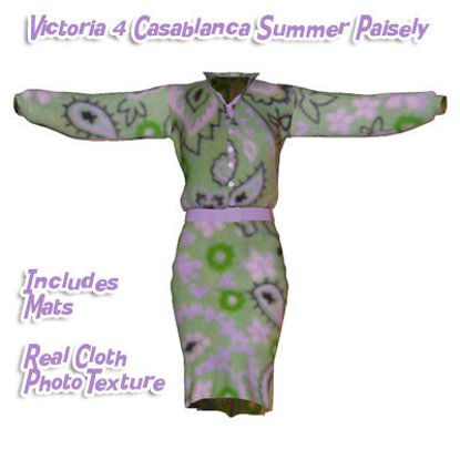 Picture of Summer Paisley Casablanca Dress for Victoria 4