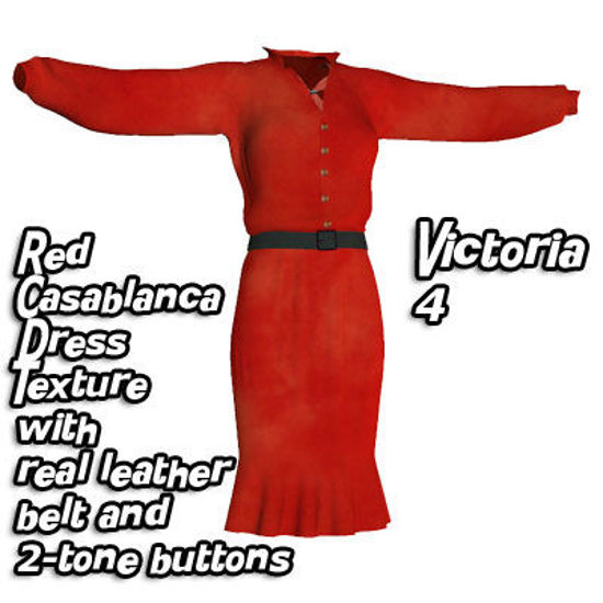 Picture of Red Casablanca Dress Texture for Victoria 4