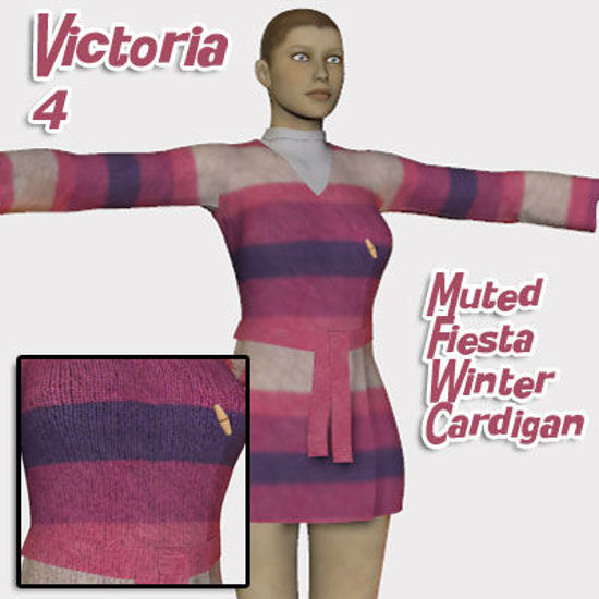 Picture of Muted Fiesta Winter Cardigan Texture for Victoria 4
