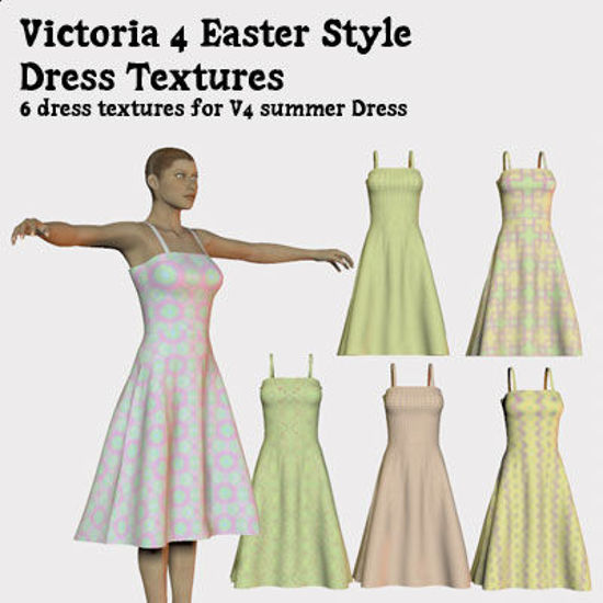 Picture of Easter Style Dress Textures for Victoria 4