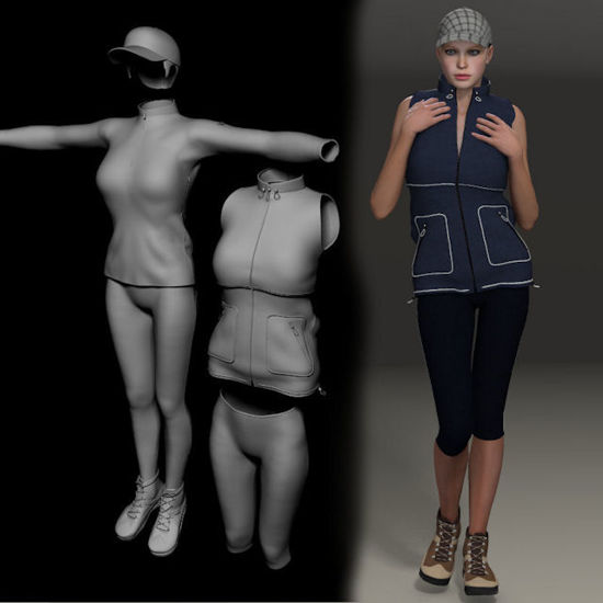 Picture of Hiking set for DAZ Victoria 4