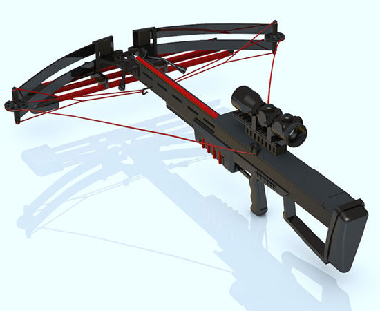 Picture of Modern Crossbow Model - Poser and DAZ Studio Format