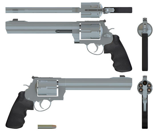 Picture of 44 Magnum Dirty Harry Pistol with Movements - Poser and DAZ Studio Format