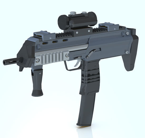 Picture of H&K MP7 Assualt Rifle with Stock Morph - Poser / DAZ Studio Format