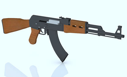 Picture of AK-47 Rifle Weapon Model - Poser and DAZ Studio Format