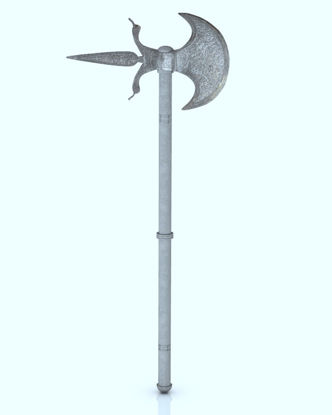 Picture of Medieval Battle Axe Model - Poser and DAZ Studio Format