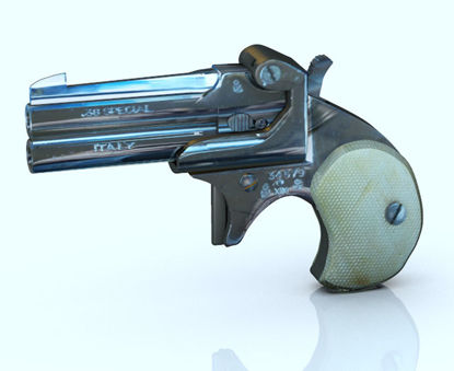 Picture of Derringer Pistol Model with Movements
