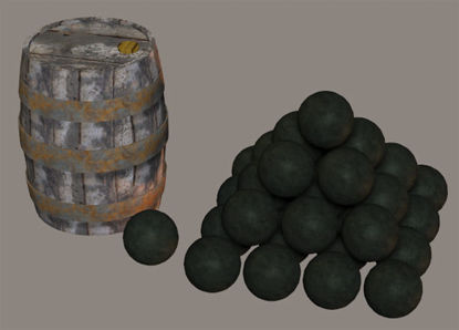 Picture of Cannon Balls and Powder Keg