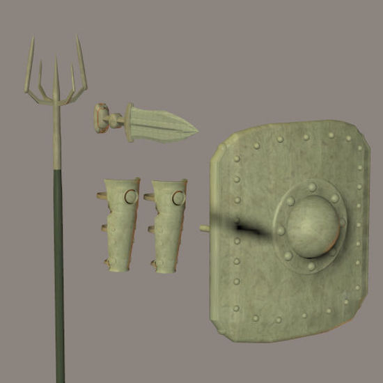 Picture of Gladiator Weapons and Protection Props