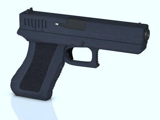 Picture of Glock Style 40 Caliber Pistol Weapon Prop