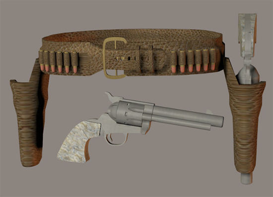 Picture of Old West Six Shooters and Gun Belt - REMAPPED
