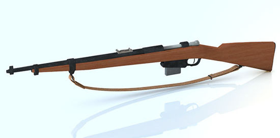 Picture of Japanese WWII Infantry Rifle Weapon Model - REMAPPED -2