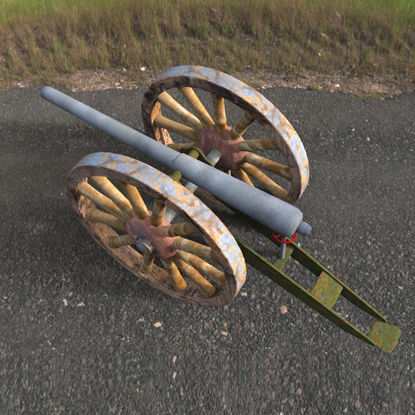 Picture of 19th Century Cannon Model