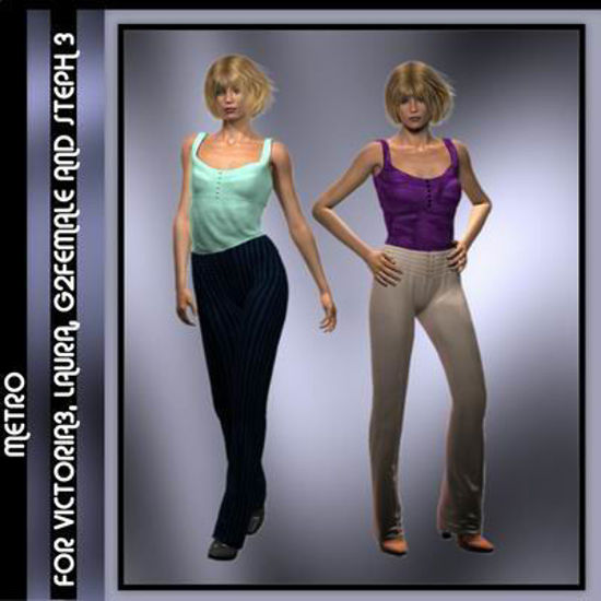Picture of Metro for Multiple Figures - Poser G2F, Laura, DAZ 3D V3, and SP3