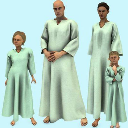 Picture of Nightshirt for Multiple Figures - Poser Ben, Jesse, Luke,Laura,Kate, DAZ 3D AM,M3