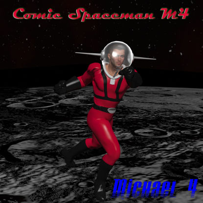 Comic Spaceman Outfit for Michael 4 - Clothing for Poser / Daz 3D ( M4 )